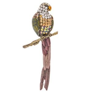 🆕 Rhinestone Parrot Brooch